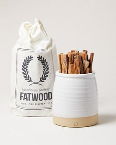 Beehive Fatwood Crock and Fatwood Bag