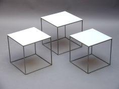 """PK71""  nest of tables  by Poul Kjaerholm for Kold Christensen 1957 Price: SOLD Size: 28 x 28 x 28.5 cm"