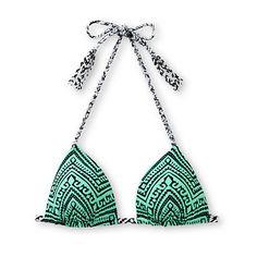 84ce9845031a3 Empyre Zig Zag Tribal Mint Molded Cup Triangle Bikini Top | #zumiez # swimsuit Beach