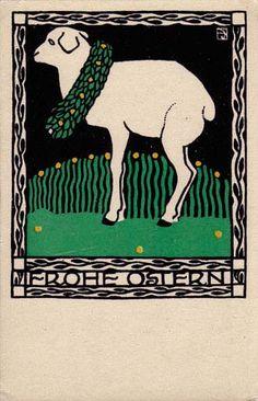 ¤ Wiener Werkstätte postcard #141 Josef Diveky