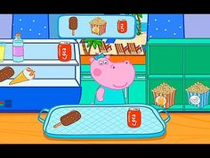 Hippo Peppa Beach Family Business. Playing the game Hippo Peppa. Games f...
