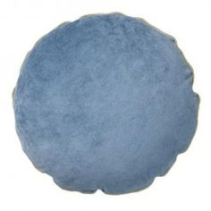 BLOOMINGVILLE Velour/Canvas Midnight Blue-Grey Cushion