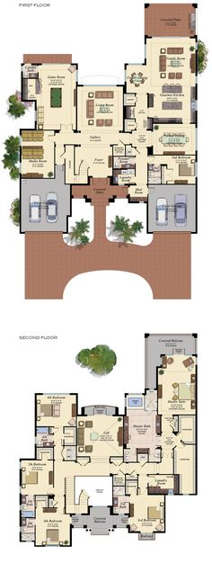6 Bedroom Floor Plans With Basement 6 Bedroom Floor Plans With Basement, Traditional Split Bedroom Design Architectural Designs, 6 Bedroom House Plans With Basement Photos And Video, Luxury House Plans, Dream House Plans, House Floor Plans, My Dream Home, Floor Plans 2 Story, 6 Bedroom House Plans, Large House Plans, House Plans 2 Story, Large Floor Plans
