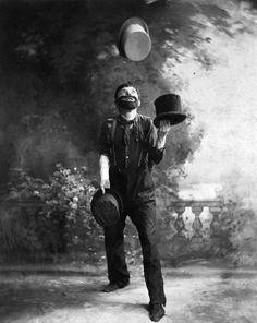 W.C. Fields Juggling Top Hats, 1900