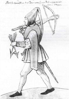 """Archer. """"Trachtenbuch de Christoph Weiditz von seinen teisen nach Spanien (1529)und den Niederlandeden (1531/32)"""""""