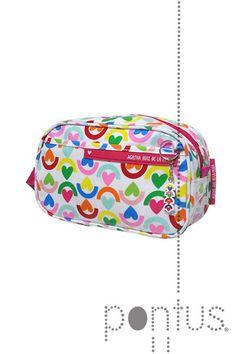 Bolsa Arco Iris 1 asa 23x14x8cm rosa | JB