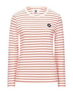 Wood Wood T-shirt In Orange Wood Wood, Round Collar, World Of Fashion, Luxury Branding, Stripes, Orange, Long Sleeve, Sleeves, Mens Tops