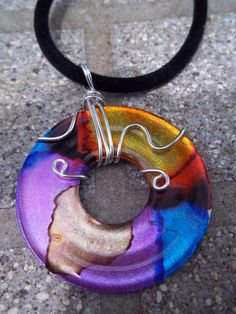 Metal Washer Pendant/Necklace by WastebasketWhatnots on Etsy, $25.00