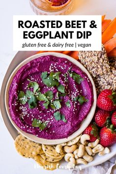 ROASTED BEET Healthy Dip Recipes, Healthy Dips, Healthy Appetizers, Healthy Smoothies, Appetizer Recipes, Dairy Free Options, Vegan Meal Prep, Roasted Beets, Sugar Free Recipes