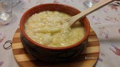 Minestra di cavolfiore bianco e riso