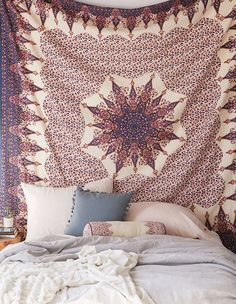 This versatile boho staple will dress up a bland wall or disguise an ugly headboard.