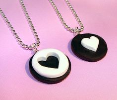 Oreo Cookie  Best Friends Necklaces BFF  Cute by kawaiidesune, $25.95