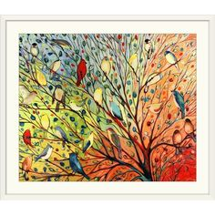 'Twenty Seven Birds' Jennifer Lommers Graphic Art Print