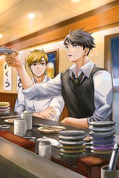 Haikyuu Manga, Haikyuu Funny, Haikyuu Fanart, Anime Manga, Hot Anime Boy, I Love Anime, Anime Guys, Fanarts Anime, Anime Characters