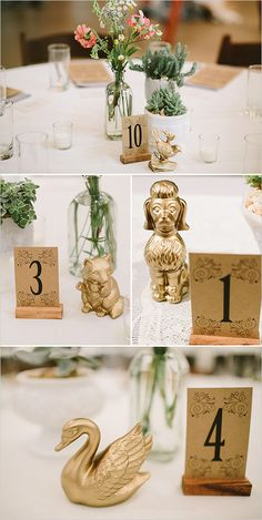 unique table numbers and table decor @weddingchicks