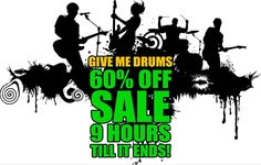Get your playing #rocksolid with Give Me Drums - mp3 drum tracks for practice jamming and song writing. 60% off sale ending in 9 hours don't miss out! (Link in the bio)