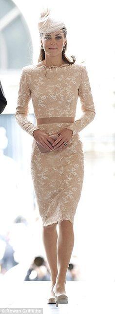 Lovely: The Duchess of Cambridge...