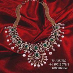 Diamond choker indian diamond necklace pure silver jewelry indian silver jewelry indian gold jewelry designs statement necklace - SHABURIS Indian Gold Jewellery Design, Indian Wedding Jewelry, Jewelry Design, Antique Jewellery, Bridal Jewellery, Indian Jewelry, Diamond Choker, Diamond Jewelry, Silver Jewelry
