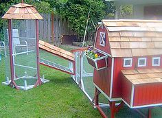 The most amazing backyard chicken coop I've ever seen!