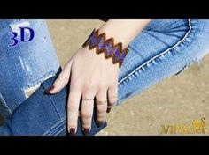 ZIGZAG Beaded Bracelet. 3D Beading Tutorial - YouTube