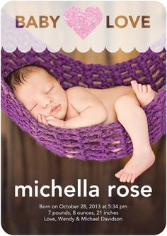 Gleaming Heart birth announcement to share your baby love!