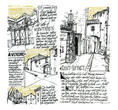 House hunting in the Gard, France #urbansketchers
