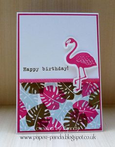 card critters bird birds flamingo flamingos leaves monstera philodendron SU Stampin' Up! Pop Of Paradise
