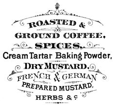 Printable Typography Coffee Sign - The Graphics Fairy