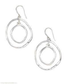 These Sterling Silver Earrings have style that goes round and round.
