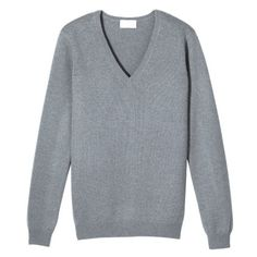 Grey v-neck cashmere sweater - Eric Bompard