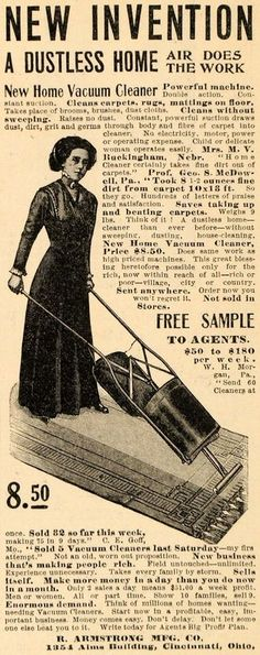 1911 Ad Vacuum Cleaner R Armstrong Manufacturing Co