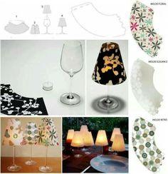 Lampje maken met wijnglas
