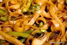 pasta con verduras salteada