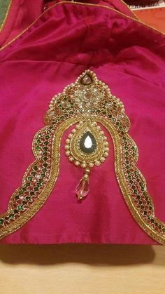 wedding blouse designs with maggam work Wedding Saree Blouse Designs, Blouse Designs Silk, Designer Blouse Patterns, Maggam Work Designs, Hand Work Blouse Design, Blouse Models, Sleeve Designs, Mirror Work Blouse, Maggam Works