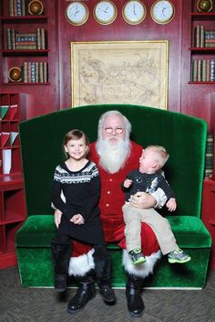 Sometimes kids are decidedly not thrilled to be placed on Santa's lap. That's especially true for babies and toddlers who are often quite adamant in their disapproval and displeasure. T…