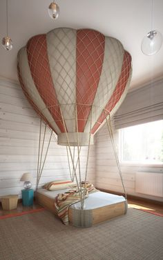 hot air balloon bed | bedroom designed by Anton Saveliev