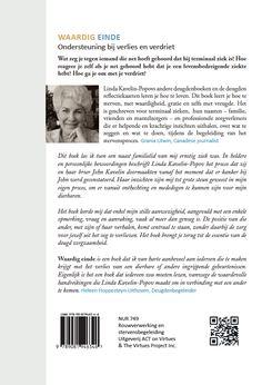 Omslag 'Waardig einde, ondersteuning bij verlies en verdriet' door Linda Kavelin-Popov, ontworpen door Annelies Wiersma voor Uitgeverij ACT on Virtues.