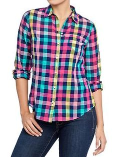 I bought this Old Navy plaid shirt a size too big for slouchy Fall comfort over leggings and boots!