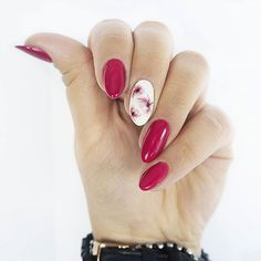 Red Stiletto nails Quick Guide to 15 Stylish Yet Simple Nail Designs ★ See more: naildesignsjourna. Gel Nail Art, Manicure And Pedicure, Acrylic Nails, Red Nails, Hair And Nails, Cute Nails, Pretty Nails, Cute Nail Art Designs, Creative Nails