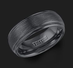 Black is back! This black tungsten carbide band is a great fashion piece (or wedding band) for any man!