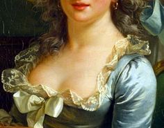 Decolletage detail from a self portrait by Adélaïde Labille-Guiard, 1785. The Met