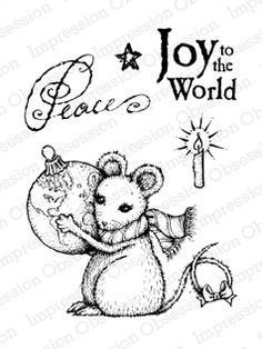 Impression Obsession Rubber Stamps Clear Stamp Set - Peace on Earth