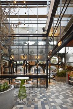 Prahran Hotel. During the day time, the pipe facade fills the interior space with an abundance of natural...