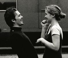 : Ethan Hawke & Julie Delpy in Before Sunrise Shot by Gabriela Brandenstein romantico, Julie Delpy in Before Sunrise. Before Sunrise Movie, Before Sunrise Trilogy, Before Trilogy, Before Sunset, Julie Delpy, Citations Film, The Love Club, Beautiful Mind, Series Movies