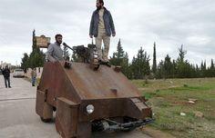 Syrian rebels DIY vehicle