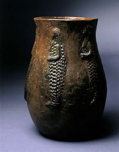 Bean Pot with Incised Corn Maiden Figures by Faye Tso / American Art