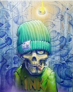 I got graffiti on my mind. Get out there and make something happen today! Graffiti Cartoons, Graffiti Characters, Arte Dope, Dope Art, Arte Black, Chicano Art, Graffiti Lettering, Street Art Graffiti, Graffiti King
