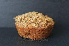 Havregryns muffins med æble og kanel