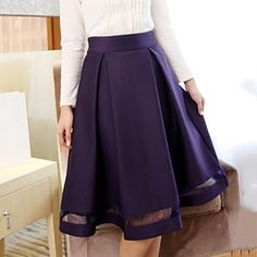 Women's Solid Color Pleated Skirt(More Colors) – USD $ 22.19