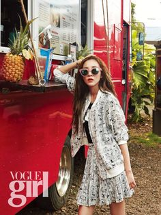 member Sandara Park is featured in the upcoming issue of the fashion publication Vogue Girl Magazine. Dara looks beautiful in her beach themed photo shoot. You can see Dara's full beach photoshoot in the July issue of 'Vogue Girl'! Kpop Fashion, Asian Fashion, Korea Fashion, Girl Fashion, Moda Kpop, 2ne1 Dara, Sandara Park, Girl Korea, Girls Magazine
